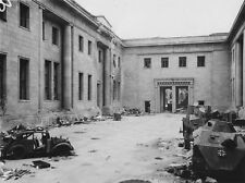 WWII B&W Photo Adolf Hitler HQ Reich Chancellery Berlin  1945   WW2 / 2324
