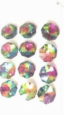 50 Chandelier Crystal 14mm Octagons Vitrail Rainbow Faceted Prisms Parts Octagon