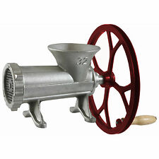 Sportsman Series #32 Cast Iron Meat Grinder With Pulley Manual Hand Tool Crank