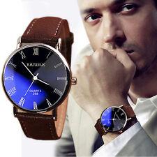Luxuriös Marke Herren Armbanduhr Damenuhr PU-Leder Uhr Analog Quarz