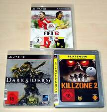 3 PLAYSTATION 3 PS3 SPIELE SAMMLUNG FIFA 12 DARKSIDERS KILLZONE 2 EGO SHOOTER