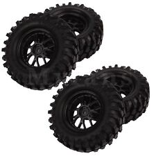 4 x 12mm Hex Off-Road Y Type Wheel Rim & Tires Black for RC 1: 10 Buggy Car