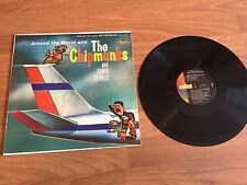 The Chipmunks Around the world LP Record Clean 60's Foil Cover David Seville