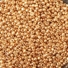 50g glass seed beads - Bronze Metallic - approx 2mm (size 11/0) craft, beading