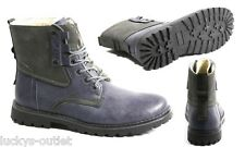 Giraldi Oliver Men's Stylish Casual Two Tone Work Ankle Navy Blue Boots Size 9