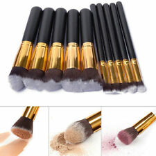 10Pcs Black Fashion Makeup Eyeshadow Blush Brush Set  Professional Cosmetic Tool