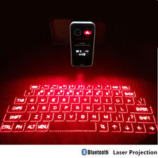 LCD Touch Portable Mini Bluetooth Virtual Laser Projection Keyboard Full Size