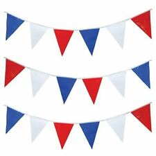 50FT 15M RED WHITE AND BLUE GB USA BUNTING Street Party Olympics Decoration G007