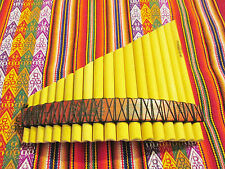 PROFESSIONAL CURVED PAN FLUTE 18 PIPES SEE VIDEO FROM PERU CASE INCLUDED