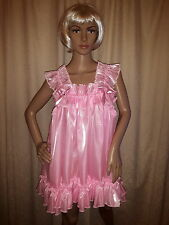 Sissy Adult Baby Pink Pearlescent Baby Doll Dress