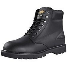 "NEW DIAMONDBACK ACTION LEATHER 6"" STEEL TOE BLACK 8.5 M WORK CASUAL BOOT 6465777"