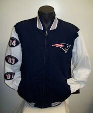 NEW ENGLAND PATRIOTS 3 TIME Super Bowl Championship Cotton Twill Jacket XXL 1%