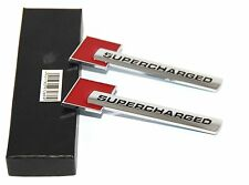 2x Genuine Red Supercharged Badge Emblem Stickers for Audi A3-6 Q-7 S4 S6 Tt CY