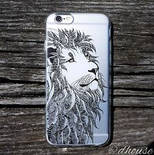 *** MADE IN JAPAN *** Soft Clear TPU iPhone 6 & iPhone 6s Case Lion Head design