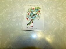 Victorian Trade Card Niagara Corn Starch with Bundle of Flowers