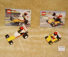 LEGO Sets: Town: Race: 1250-1 Dragster & 1251-1 Go-Cart (1999) w/INST SHELL