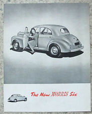 MORRIS SIX Car Sales Brochure Oct 1948 #23/18 (56110) 10/48-30