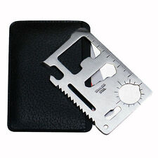 Multi Function Survival Tool Mini Card Knife Saw Ruler Camping Hiking Outdoor