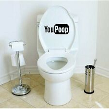 Funny YouPoop Toilet Seat Decal/Sticker Mural Art Bathroom YouTube Funny Joke