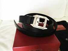 Cartier Santos Belt Silver Buckle Leather Belt New in Box Authentic ...