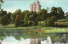 Hedingham Castle Arthur Smith Postcard - Earles Colne D38 1908 Duplex Postmark