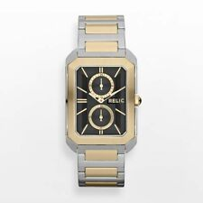 NIB RELIC by FOSSIL Brookfield Two Tone Multifunction Men's Watch FREE SHIP
