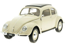 Welly 1/18 Scale 1950 VW Volkswagen Classic Beetle Rag Top Cream Model 18040