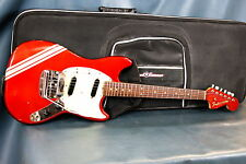 1969 Fender Mustang Competition Red bundled w/ Road Runner Case