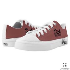 DICK TRILLIONAIRE OFFICIAL Mens Sneakers Red Low Top Canvas Size 4 - 13