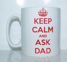 KEEP CALM AND ASK DAD Original Taza Impresa Cumpleaños/Navidad /Regalo