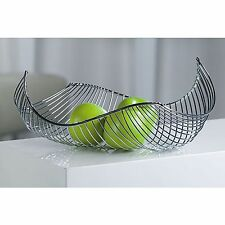 DESIGN FRUIT BASKET | silver, chromed wire | bread bowl, fruit basket