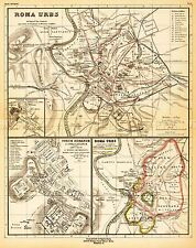 MAP ANTIQUE KIEPERT 1903 ANCIENT ROME CITY PLAN REPLICA POSTER PRINT PAM0966