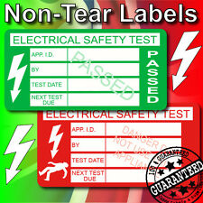 Non-Rip The Best PAT Test Testing Labels / Stickers x1,000 PASSED+50 FAILED FREE
