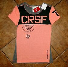 Women's Reebok CrossFit Fitness Athletic Coral & Gray Shirt Medium