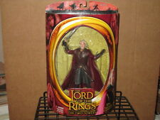 2002 LORD RINGS TWO TOWERS KING THEODEN SWORD ATTACK ACTION FIGURE MIP