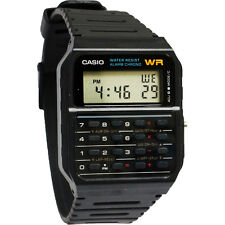 Casio CA53W-1 Classic Men's Water Resistant Calculator Digital Watch - Black