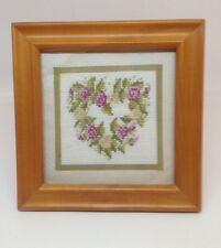 Wood Framed, Handmade Cross Stitch by village women Young India Project recycled