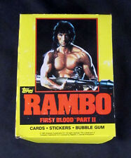 1985 Topps Rambo First Blood Part 2 Empty Display Box