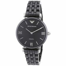 Emporio armani original AR1487 retro ceramic female SLIM watch