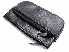 LADIES GIRLS SMALL BLACK COIN POUCH CREDIT CARD KEY RING HOLDER PURSE WALLET