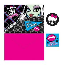 8 Monster High Birthday Party Invitations Invite Plus Envelopes