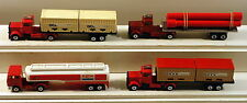 DTE 4 LESNEY MATCHBOX TWIN PACK CONVOY PIPE TRUCK, EXXON TANKER, NYK & OCL