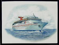 Original Art Work ...ms JUBILEE ... cruise ship...Carnival Cruise Line