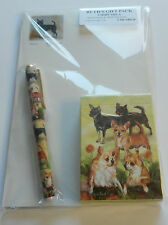 Ruth Maystead Gift Pack playing cards, pen, note pad, Chihuahua-dogs