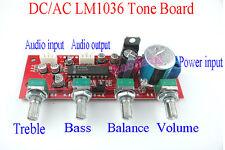 AC/DC 12V 24V Assembled LM1036 Tone Board Treble Bass Balance Volume Control  D