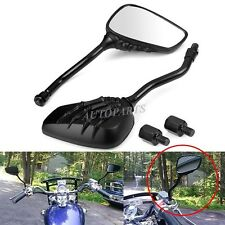 CUSTOM CRUISER MOTORCYCLE BIKES BLACK CLAW SHADOW SKULL HAND REARVIEW MIRRORS