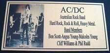BON SCOTT GROUP AC/DC Photo  Gold Plaque*** FREE POSTAGE***new