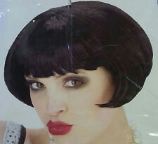 1920's Short Black Flapper Costume Wig with Bangs