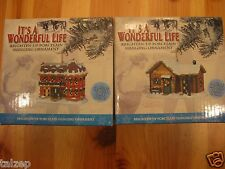Brand New! It'S A Wonderful Life Enesco Lighted Ornaments Sycamore & Martini's