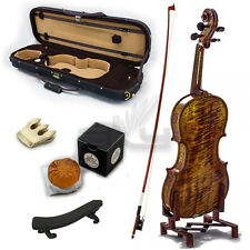 High Quality SKYVN621CB-4/4 Full Size Hand Carved Artist Violin Antique Style